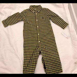 New Ralph Lauren Baby Boys Buttoned Onesie